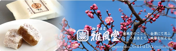 雅風堂 お歳暮ギフト 雅風堂のこころ、金澤にて思ふ こころを添えて、風雅を伝える。